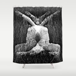 DARK MEDITATIVE POWER Shower Curtain