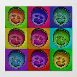 The Scream: tomato edition Canvas Print