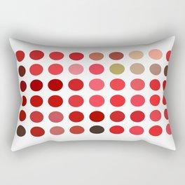 Mottled Red Poinsettia 1 Ephemeral Dots Rectangular Pillow