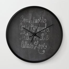 I think it's called Love Wall Clock