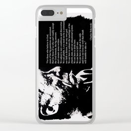 Charles BUKOWSKI - faith quote Clear iPhone Case