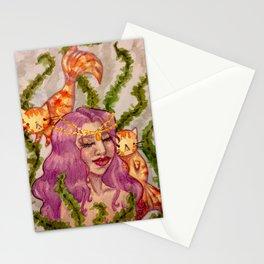 Mermaid and MerCATs Stationery Cards