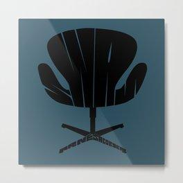 Swan Chair Metal Print