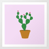 cacti Art Prints featuring Cacti by Libbie Bischoff