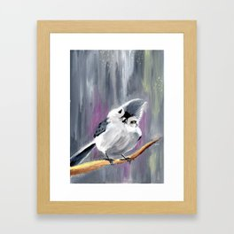 Bobbi the tufted titmouse Framed Art Print