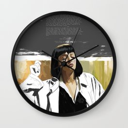 PULP FICTION   PAINTING   Girl, You'll Be a Woman Soon   Quote   Vintage Style Poster   Print #M43 Wall Clock