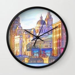 World famous Three Graces (Digital painting) Wall Clock