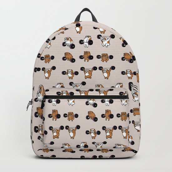 OLYMPIC LIFTING English Bulldog Backpack