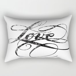 Love Classic Lettering Rectangular Pillow