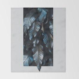 Growth II (blue) Throw Blanket
