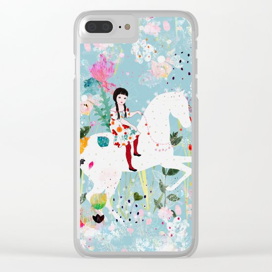 Storybook Horse Clear iPhone Case