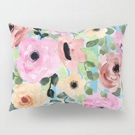 Watercolor Flowers Preppy Pastels Pillow Sham
