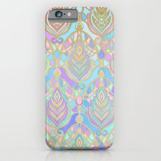 Jade & Blue Enamel Art Deco Pattern Slim Case iPhone 6