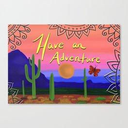 Adventuring Canvas Print