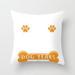 16th Anniversary Funny Married For 112 Dog Years Marriage design Throw Pillow