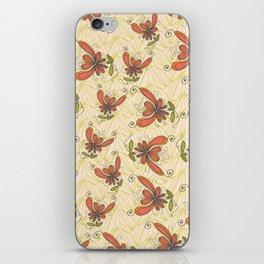 nut leaves - cream iPhone Skin