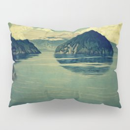 Distant Blues Pillow Sham
