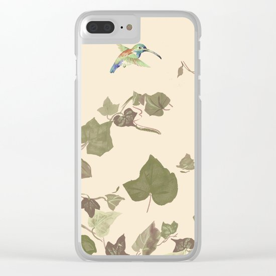 Ivy & hummingbird Clear iPhone Case