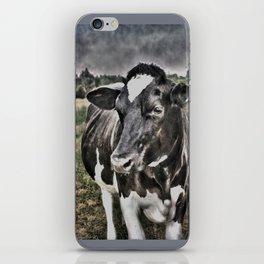 Melancholic Black White Dutch Cow iPhone Skin