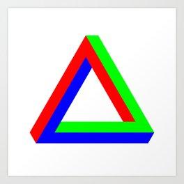 Penrose Triangle RGB Art Print