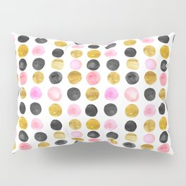 Pink and gold watercolor rounds  Pillow Sham