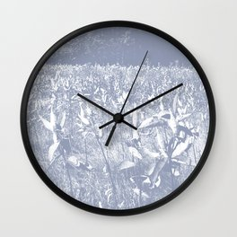 Milkweed Field_Slate Blue Wall Clock