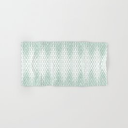 Velvety Snakeskin Pattern in Pastel Green Hand & Bath Towel