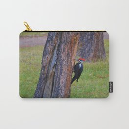 Pileated woodpecker hard at work in Jasper National Park Carry-All Pouch
