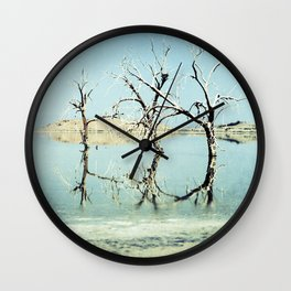 Three Trees in the Sea - Salton Sea California Wall Clock