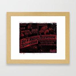 Radio TV - Tech Framed Art Print