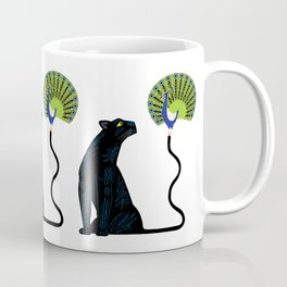 The Peacock and The Panther Coffee Mug