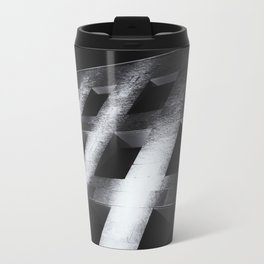 Modern black white architectural building night photography Travel Mug