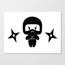 Happy Grumpy Ninjas Canvas Print