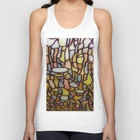 stained glass Tank Tops featuring Stained Glass by Debra Ulrich