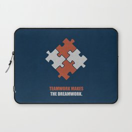 Lab No. 4 - Teamwork makes the dreamwork corporate start-up quotes Poster Laptop Sleeve