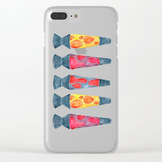 Retro Vibes – Warm Palette Clear iPhone Case