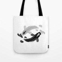 Yin-Yang oriental Koi fish Tote Bag