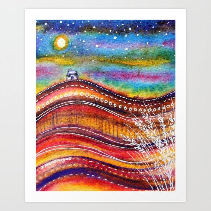 Russet Hills Art Print