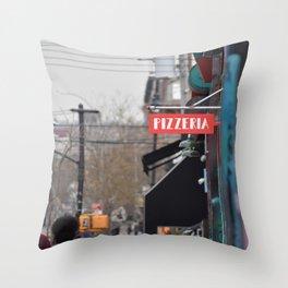 A Street in Bushwick Throw Pillow