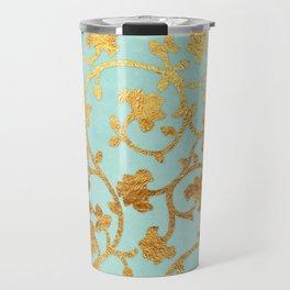 Golden Damask pattern Travel Mug