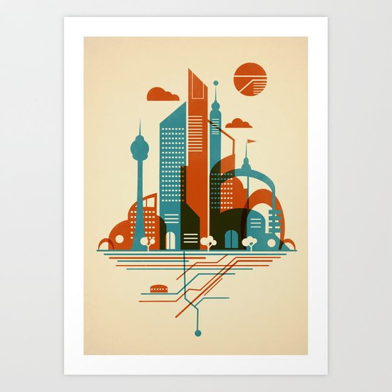 From the Subway to the Sky Art Print