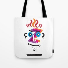 Type Faces No.2: David Bowie as Aladdin Sane brought to you in the typeface: Futura Tote Bag