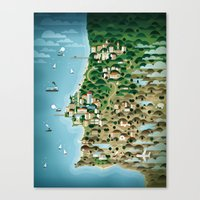 portugal Canvas Prints featuring Portugal by Steebz