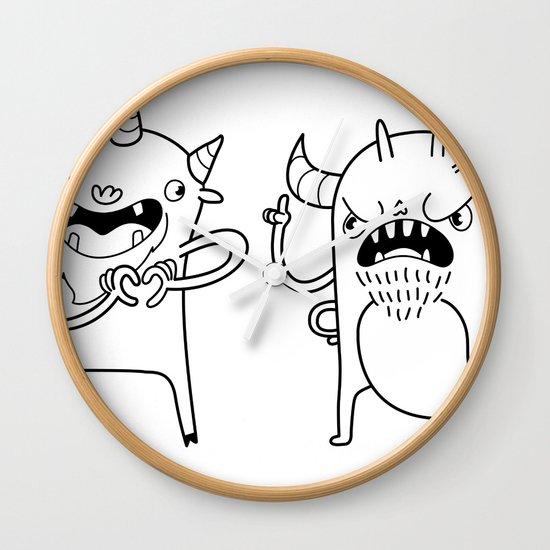 Monster Dialogues Wall Clock