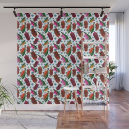 Beautiful Australian Native Florals - Grevillea and Beehive Ginger Wall Mural