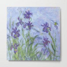 "Claude Monet ""Iris mauves"" Metal Print"
