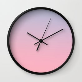 TRANSIENT FEELING - Minimal Plain Soft Mood Color Blend Prints Wall Clock