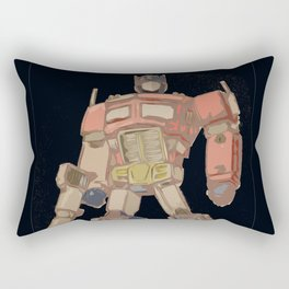 Optimus Black Rectangular Pillow