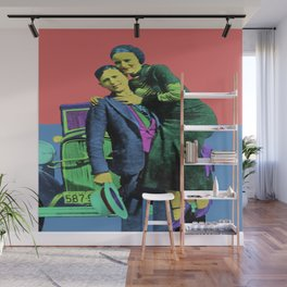 Bonnie and Clyde Pop Art Wall Mural