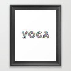 YOGA Figure Poses Framed Art Print